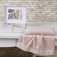 """Комплект бамбуковых полотенец """"ALTINBASAK"""" SVETA - Розовый"""