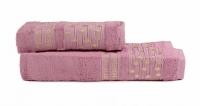 """Набор бамбуковых полотенец """"ESBELLA"""" CHRUCH - Темно-розовый"""