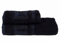 """Набор бамбуковых полотенец """"TWO DOLPHINS"""" PRIME - Черный"""