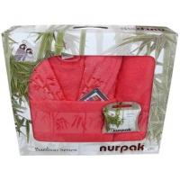 """Бамбуковый набор полотенец с халатом """"Nurpak"""""""